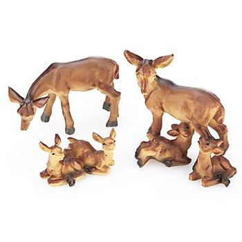 Reh-Familie, 2,5 - 7 cm, 3-teilig
