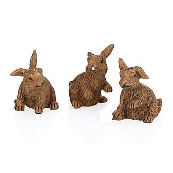 Famille de lapins, 2,5 cm, 3 pièces