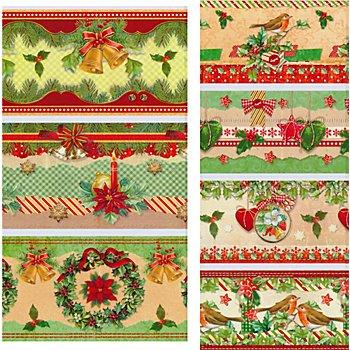 Schrumpfbanderolen-Set 'Weihnachten', 7 Stück