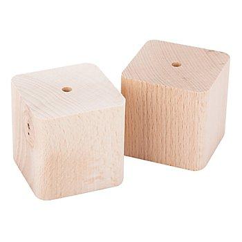 Cubes en bois de hêtre, 55 x 55 mm, 2 pièces