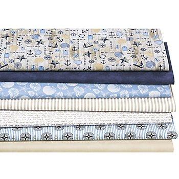 Patchwork- und Quiltpaket 'Maritim Vintage', blau-color