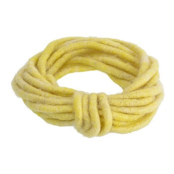 Wollkordel, gelb, ca. 7 mm Ø, 5 m