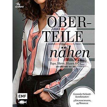 Buch 'Oberteile nähen - Tops, Shirts, Blusen und Co. in Größe 34 - 46'