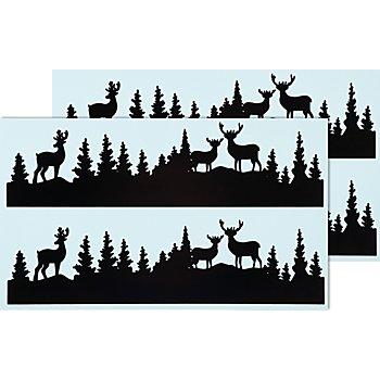 Deko-Abziehmotive 'Wald-Silhouette', 2 Bogen