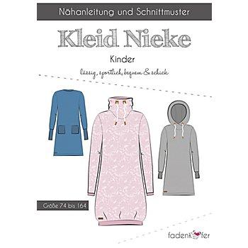 Fadenkäfer Schnitt 'Sweat-Kleid Nieke' für Kinder