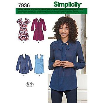 Simplicity Schnitt 7936 'Tunika/Minikleid'