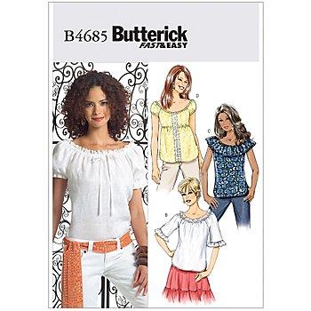 Butterick Schnitt B4685 'Carmen-Bluse Kurzarm'