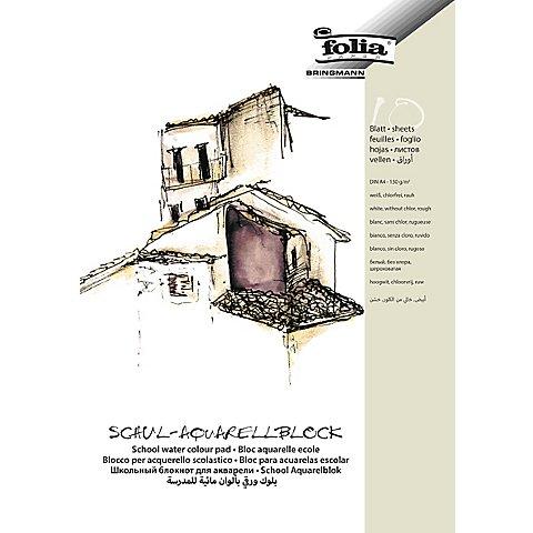 Image of Folia Schul-Aquarellblock DIN A4, 10 Blatt