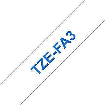 Brother P-Touch Textil-Aufbügelband, blau auf weiß