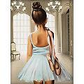 "Diamantenstickerei-Set ""Ballerina"", 30 x 40 cm"