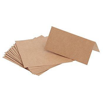 Marque-places en papier kraft, marron, 12 pièces