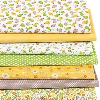 Patchwork- und Quiltpaket 'Ostern', gelb/grün/taupe