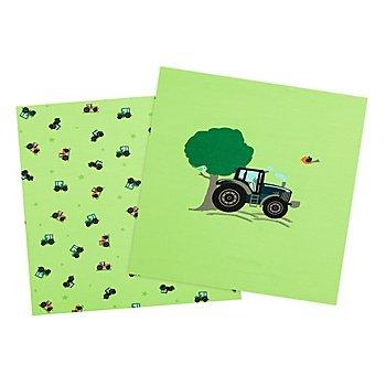 Baumwolljersey-Coupon 'Traktor' mit Elasthan