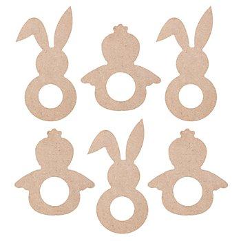 MDF-Osterfiguren, 6 Stück