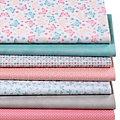 """Lot de 7 coupons de tissu patchwork """"papillons"""", pastel"""