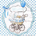 """Serviettes en papier """"Bienvenue/Welcome bleu"""", 33 x 33 cm, 20 pièces"""