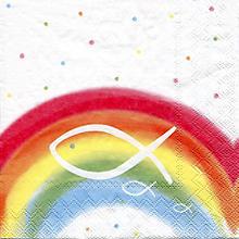 Papierservietten 'Regenbogen/Weiß', 33 x 33 cm, 20 Stück