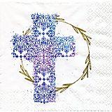 """Papierserviette """"blaues Kreuz"""", 33 x 33 cm, 20 Stück"""