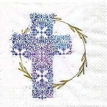 Papierservietten 'blaues Kreuz', 33 x 33 cm, 20 Stück