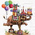 """Serviettes en papier """"éléphant à cadeaux"""", 33 x 33 cm, 20 pièces"""