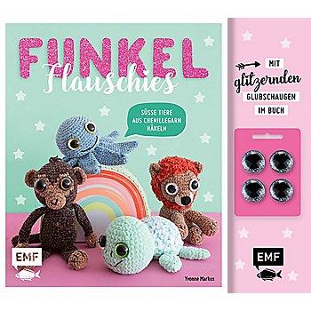 Buch 'Funkel Flauschies – süße Tiere aus Chenillegarn häkeln'
