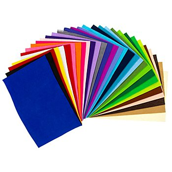 Set de coupons de feutrine 'créativité', épaisseur : 1 mm, 20 x 30 cm par coupon