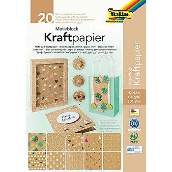 Kraftpapierblock 'Trend' A4