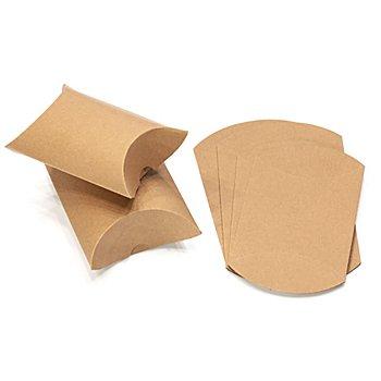 Boîtes à plier en papier kraft, marron, 2 dimensions différentes, 12 pièces