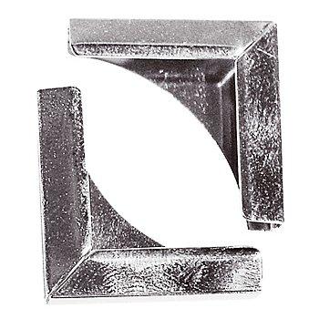 Coins en métal, argent, 21 x 21 mm, 8 pièces