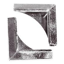 Metallecken silber, 21 x 21 mm, 8 Stück