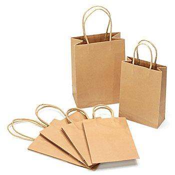 Kraftpapier-Tüten, braun, 2 Größen, 12 Stück