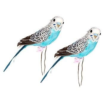 Federvögel 'Wellensittich', 21 cm, 2 Stück