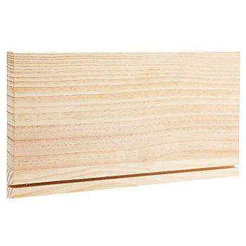 Tableau à clés en bois brut, 40 x 20 x 2 cm