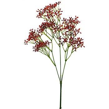 Branche de cornouiller artificielle, rouge, 64 cm