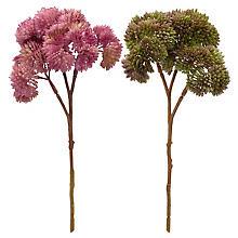 Branches de sedum artificielles, rose et vert, 20 cm, 2 pièces