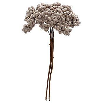 Beeren-Pick mit Glitter, platin, 24 cm