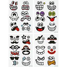 Ostereier-Sticker 'Funny faces', 48 Stück