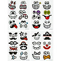 "Ostereier-Sticker ""Funny faces"", 48 Stück"