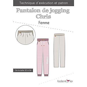 Fadenkäfer Patron 'Pantalon de jogging Chris' pour femmes