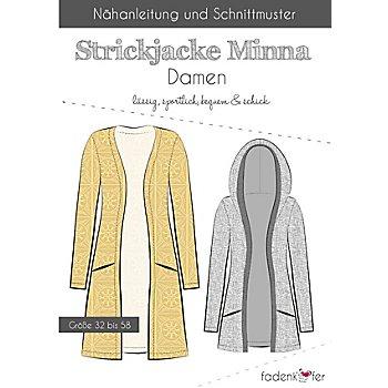 Fadenkäfer Schnitt 'Strickjacke Minna' für Damen