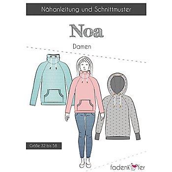 Fadenkäfer Schnitt 'Raglanhoodie Noa' für Damen