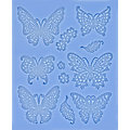 "Tapis en silicone ""papillons"""