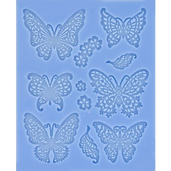 Tapis en silicone 'papillons'