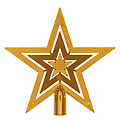 """Christbaumspitze """"Stern"""" aus Kunststoff, gold,  20 cm Ø"""
