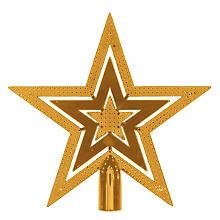 Pointe pour sapin de Noël 'étoile', or, 20 cm Ø