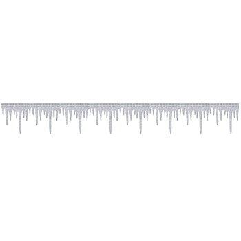 Eiszapfen-Band 'Glitter', silber, 3 m
