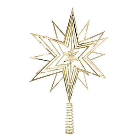 """Image of Christbaumspitze """"Stern"""" aus Metall, gold"""