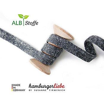 Albstoffe Bio-Flachkordel / Strickschlauch 'Cord Me Glow', anthrazit, 3 m