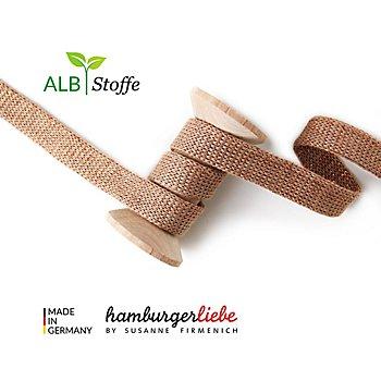 Albstoffe Cordon plat tricoté coton biologique 'Cord Me Glow', marron/cuivre, 3 m