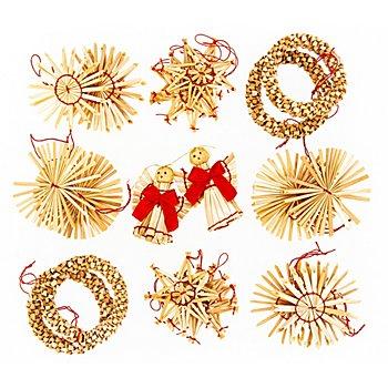 Strohmotive, natur, 5 - 6 cm, 24 Stück